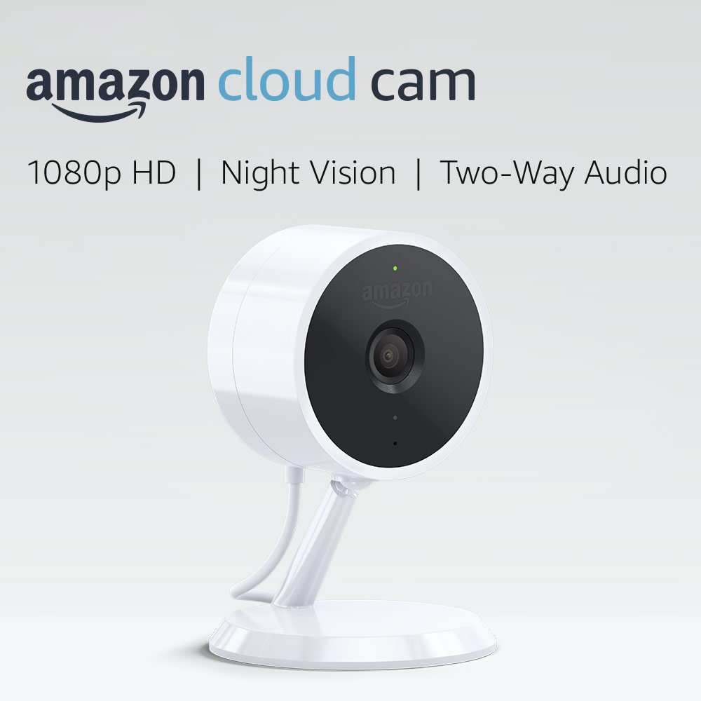 Amazon Cloud Cam Security Camera, Works with Alexa. Buy one or in sets of two or three