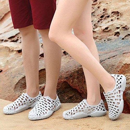 Voberry Unisex Summer Breathable Mesh Sandals, Anti-Slip Beach Footwear, Quick Drying Water Shoes Gray