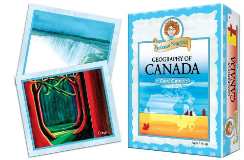 Educational Trivia Card Game Professor Noggins Geography of Canada Outset Media 10429