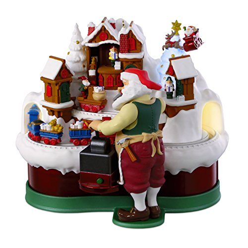 Hallmark Keepsake Christmas Ornament 2018 Year Dated, Santa's Magic Train with Music, Light and Motion