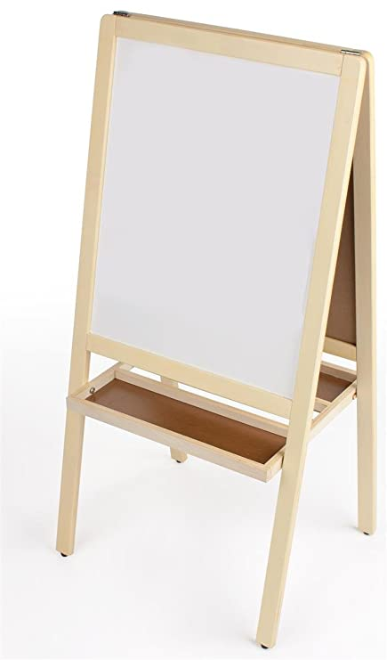 Amazon.com: Double Sided Children\'s Easel, With Magnetic Chalkboard ...