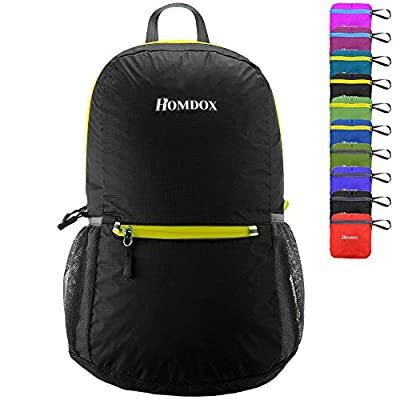 Homdox 22L Ultra Lightweight Packable Travel Backpack Handy Foldable Hiking Daypack - Durable & Waterproof
