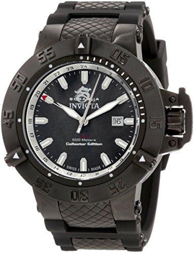 Invicta Men's 0736 Subaqua Noma III Black Dial Black Polyurethane Watch