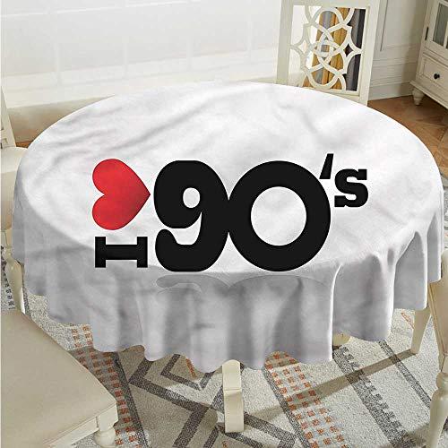 Tim1Beve 90s Custom Tablecloth Artistic I Love 90s Memories Modern Minimalist D60 ()