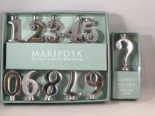 Mariposa 1221 Number Candle Holder Set Mariposa Home Decor