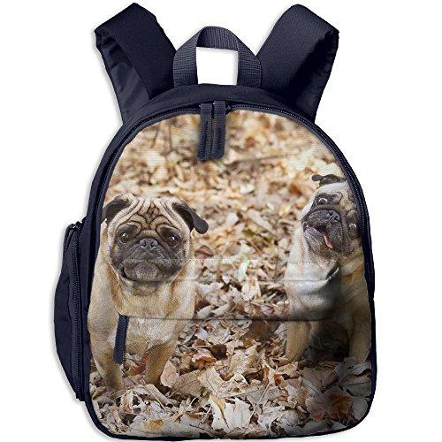 Bear Carrying On Shoulders Costume (Cute Pug2 Comfy School Bags,Custom Cute Children Shoulder Daypack,Print Backpack For Kids)