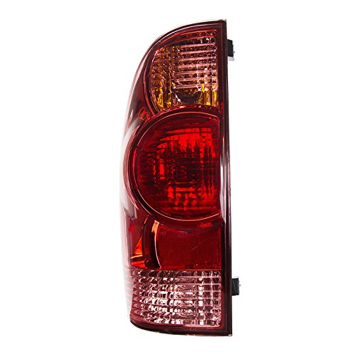 CarPartsDepot, Driver Left Side Red Clear Lens Tail Light Rear Lamp LH, TY50063A1L TO2800158 81560-04150