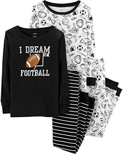 Carter's Boys' 4 Pc Cotton Pj (7, Dream of Football) -