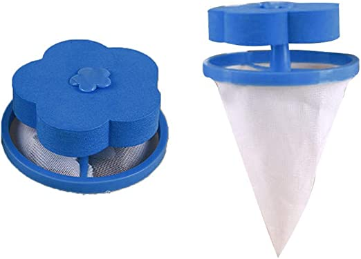 Home Floating Hair Lint Catcher Mesh Pouch Washing Machine Laundry Filter Bag US