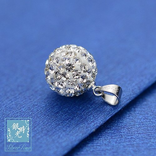925 sterling silver necklace pendant silver time my sparkling diamond crystal diamond Sphere necklace pendant pendant jewelry women girls creative personality