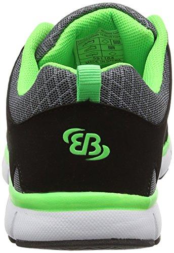 BruettingSpiridon Fit - zapatillas de running Niños Gris - Grau (grau/schwarz/gruen)
