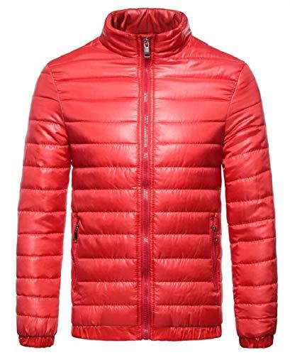 Degli Packable Caldo Della Rosso Puffer Alla Piumino Sicurezza Colletto Coreana Uomini Cappotto gRwaTq