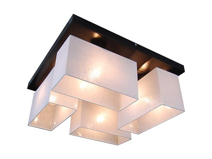 Plafoniere Per Sala Da Pranzo : Plafoniera illuminazione a soffitto in legno massiccio jls45wed