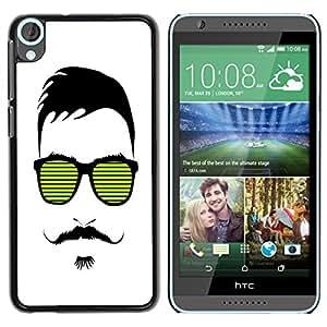 - Mustache Mania - - Monedero pared Design Premium cuero del tir¨®n magn¨¦tico delgado del caso de la cubierta pata de ca FOR HTC Desire 820 D820 d820t Funny House