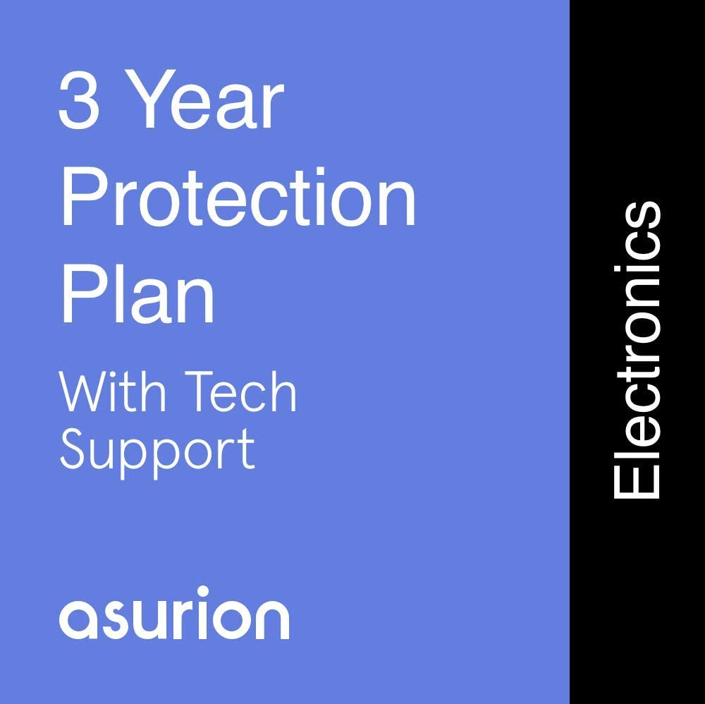 ASURION 3 Year Electronics Protection Plan with Tech Support $250-299.99