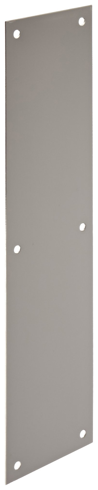 Rockwood 70C.32 Stainless Steel Standard Push Plate, Four Beveled Edges, 16'' Height x 4'' Width x 0.050'' Thick, Polished Finish