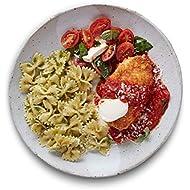 Amazon Meal Kits, Chicken Parmigiana with Pesto Farfalle & Caprese Salad, Serves 2