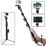 Smatree-SmaPole-Y2-Telescoping-Pole-with-Tripod-Stand-for-GoPro-Hero-543321Session-WiFi-Remote-Controller-is-NOT-Included