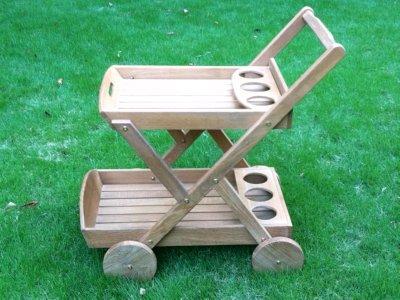 Atlanta Teak Furniture - Teak Trolley Cart - Grade-A - rolling serving cart