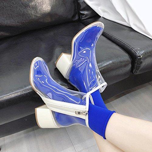 da Caviglia Scarpe Pioggia Acqua Boots Donna Bianca Martin Tacchi Stivaletti Trasparente Stivali BYSTE Stivali Stivali Alti da pfwqHfS6B