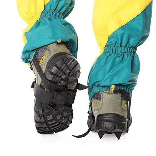 Zähne Schuhe Schnee Stück Anti Riemen Krallen Klettern Wandern Steigeisen Griffe 4 Outdoor Rutsch Ski Eis 2 0g5qwf