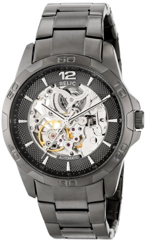 Relic by Fossil Men's Brennan Automatic Stainless Steel Sport Watch, Color: Gunmetal (Model: ZR11853)