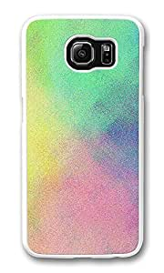 VUTTOO Rugged Samsung Galaxy S6 Edge Case, Colorful Grunge Texture Hard Plastic Case for Samsung Galaxy S6 Edge PC Transparent