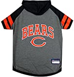 NFL Chicago Bears Hoodie for Dogs & Cats. | NFL Football Licensed Dog Hoody Tee Shirt - Small| Sports Hoody T-Shirt for Pets | Licensed Sporty Dog Shirt.