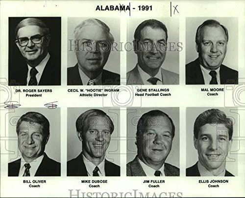 1991 Press Photo Alabama college football staff - nos31084