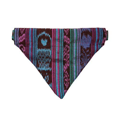 Dog Bandana Collar Pet Neckerchief For Small - Medium Dogs (14.5 - 24.5 Inches) Handmade by Hide & Drink :: Tropical Blue