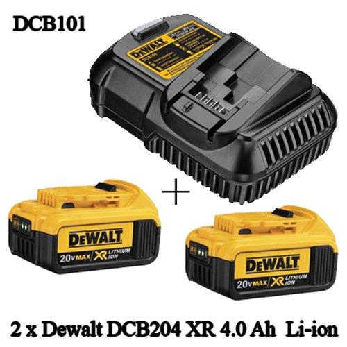 Dewalt OEM  DCB101 / DCB107 Charger &  DCB204 4.0 Ah Premium