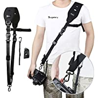 Sugelary Camera Strap, Quick Release Black Nylon Neoprene Digital Camera Strap Belt for Canon Nikon Sony DSLR SLR Mirrorless Camera (Should Strap)