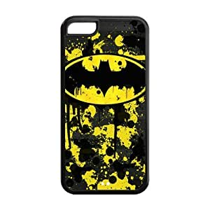 ROBIN YAM Hard Flexible Rubber Cover Case for iPhone 5C, Cool Batman Logo -CRY96