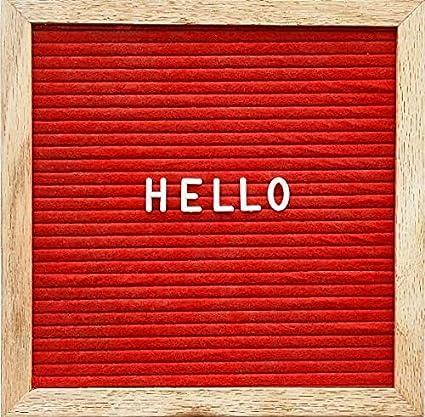 Tablero de letras de fieltro rojo intercambiable con letras ...