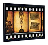 JP London FCNV2155 Oscars Movie Theatre Film Tickets Cinema Framed Art Wall Decor, 20.37'' x 26.37'' x 1.25''