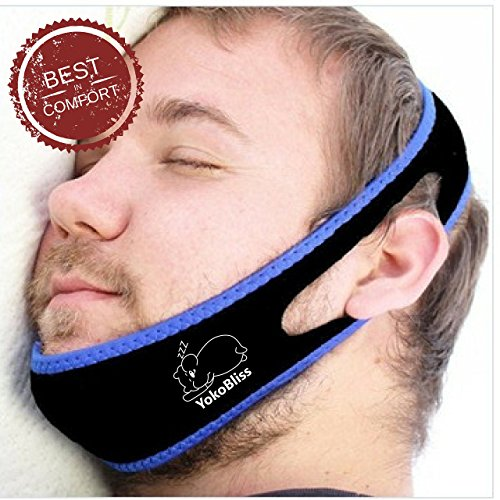 Anti Snoring Chin Strap, YokoBliss: Adjustable, Sleeping Device, Very Comfortable, Durable, Stop Snoring Solution, No Snore, Sleep Better, Sleeping Aid, Non Snore, Anti Snoring Device