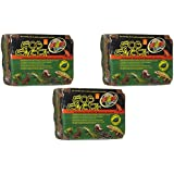 Zoo Med Eco Earth Compressed Coconut Fiber Substrate, 9 Bricks Total (3 Packages containing 3 Bricks each)