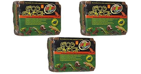 Amazon.com: Zoo Med Eco Tierra comprimida Sustrato de fibra ...