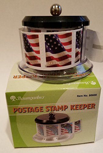 USPS Forever Stamps Star Spangled Banner Roll of 100 Postage Stamps + Baumgartens Postage Stamp Keeper (Stamp Design May Vary)