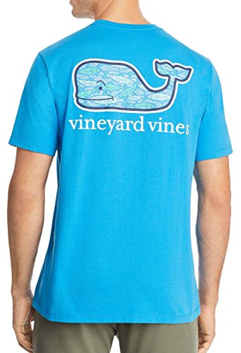 Vineyard Vines Mens Short Sleeve Graphic Pocket T Shirt  Large  Blue Fish Whale