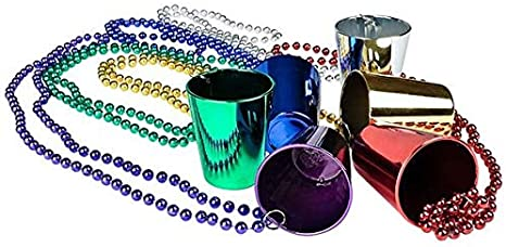 G15--One Dozen Glass Bead Mardi Gras necklaces from a New Orleans Carnival Parade