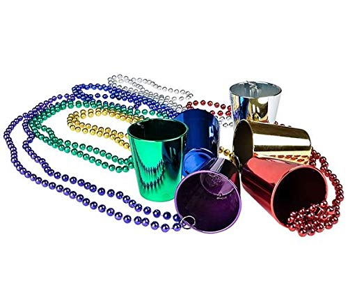 Mardi Gras Shot Glass Beads 1 Dozen]()