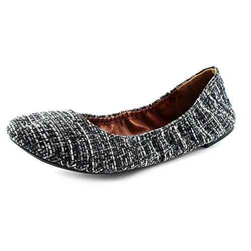 Brand tansy brindle Flats Ballet Lucky Black Women's Emmie zxA6R