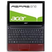 Acer Aspire one D255E 25,65 cm (10,1 Zoll) Netbook (Intel Atom N455, 1,6 GHz, 1GB RAM, 250GB HDD, Intel 3150, Bluetooth, Win 7 Starter) rot
