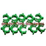 Ding Glassware,Plastic Keck,24/40,Laboratory Lab Clamp Clip,Keck Clip,24/29,24# Conical Interface Clip,10pcs