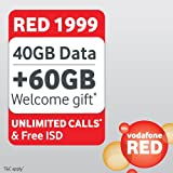 "Vodafone Red Postpaid Plan 1999 Unlimited ""SIM Card"""
