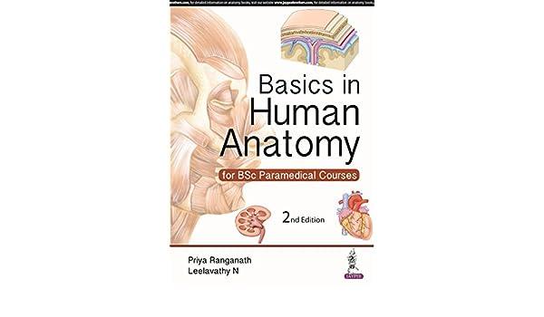 Basics In Human Anatomy For Bsc Paramedical Courses Ranganath