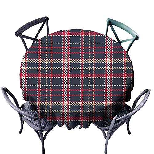 Lcxzjgk Oil-Proof and Leak-Proof Tablecloth Plaid Classical Pattern with Traditional Origins Irish Country Retro Style Simple Checkered Multicolor Excellent Durability -