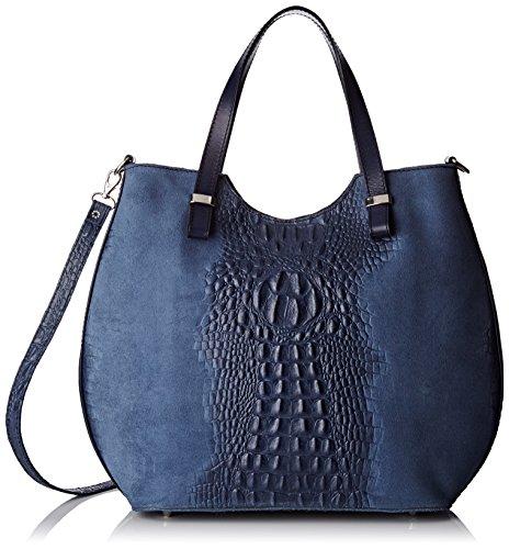 Chicca Borse 80046-1 - Bolsos bandolera Mujer Azul (Blu)