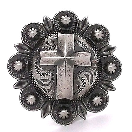 [Cross Berry Concho Antique Silver All Metal 1-1/2